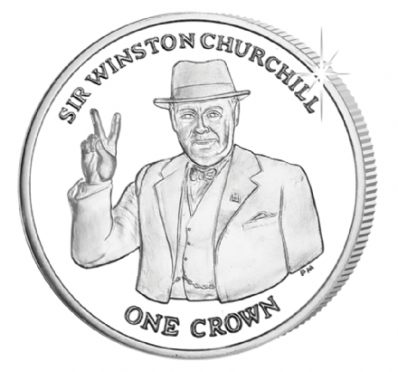 Isle of Man Sir Winston Churchill Crown